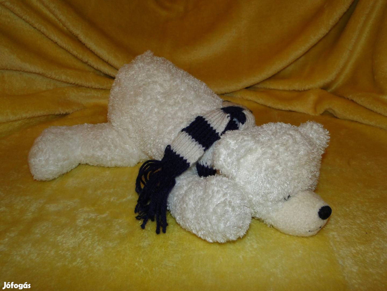 45 cm es Jeges maci , medve , mackó , sállal a nyakában. Minőségi ,, 3. Kép