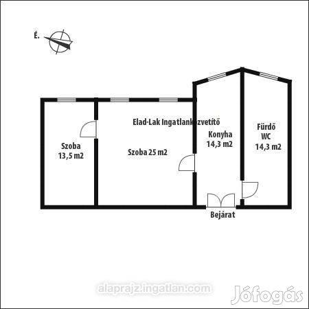 67 m2-es 2sz. fsz. lakás Kőszeg