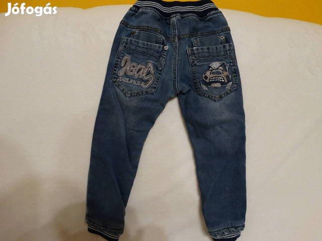 92 - 98 méretű divatos farmernadrág vastagon polárral bélelt eladó