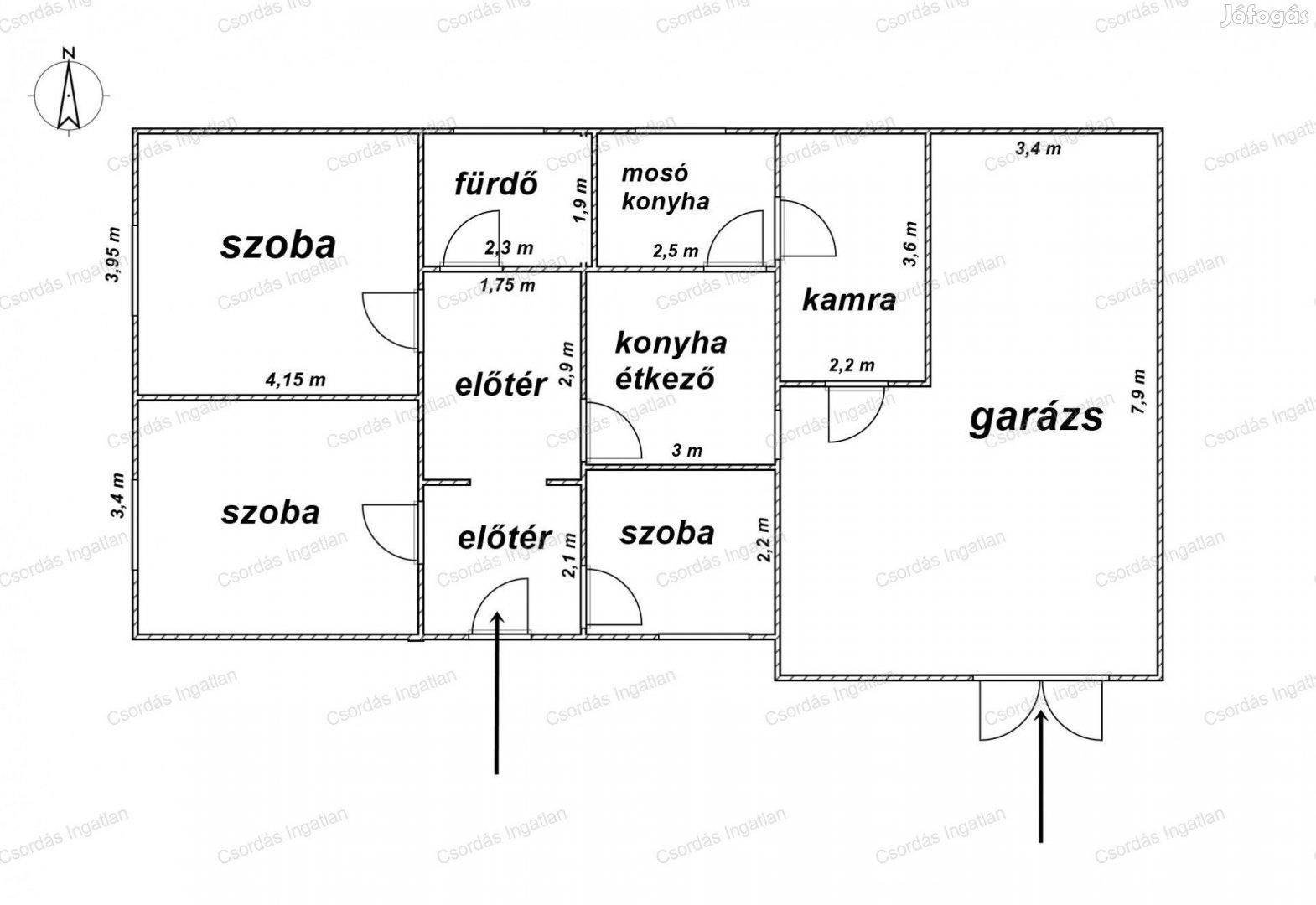 ALKUKÉPES ÁRON, Részben FELÚJÍTOTT, 2,5 szobás családi ház, SZÉPEN
