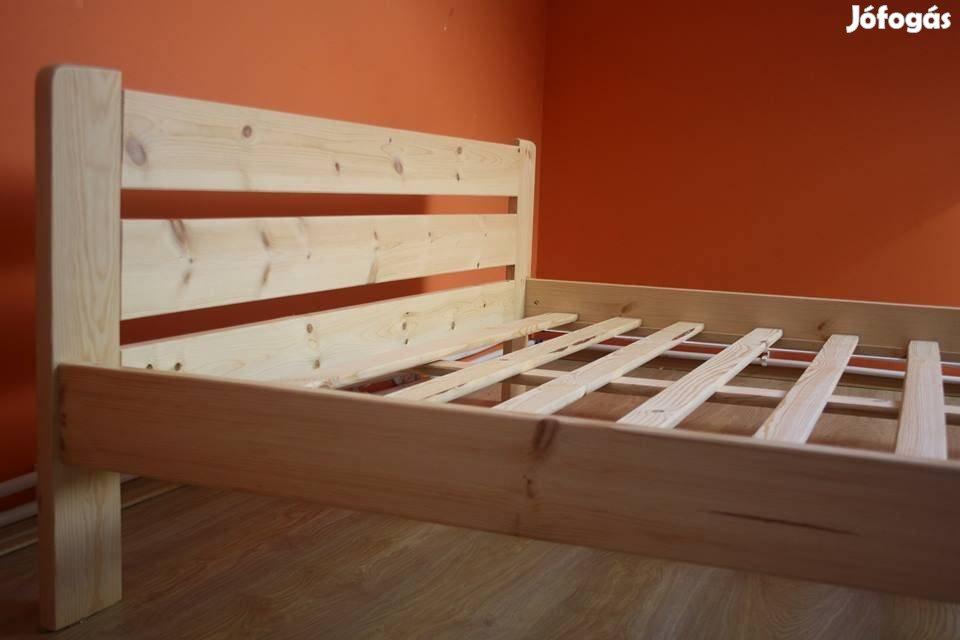 Ágy eladó, ágykeret és ágyrács, borovi fenyő. A kiszállítás zavartalan