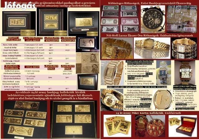 Ajándék Rendelés: Arany Bankjegy, Luxus Karóra, Festmény, Antik Szobor