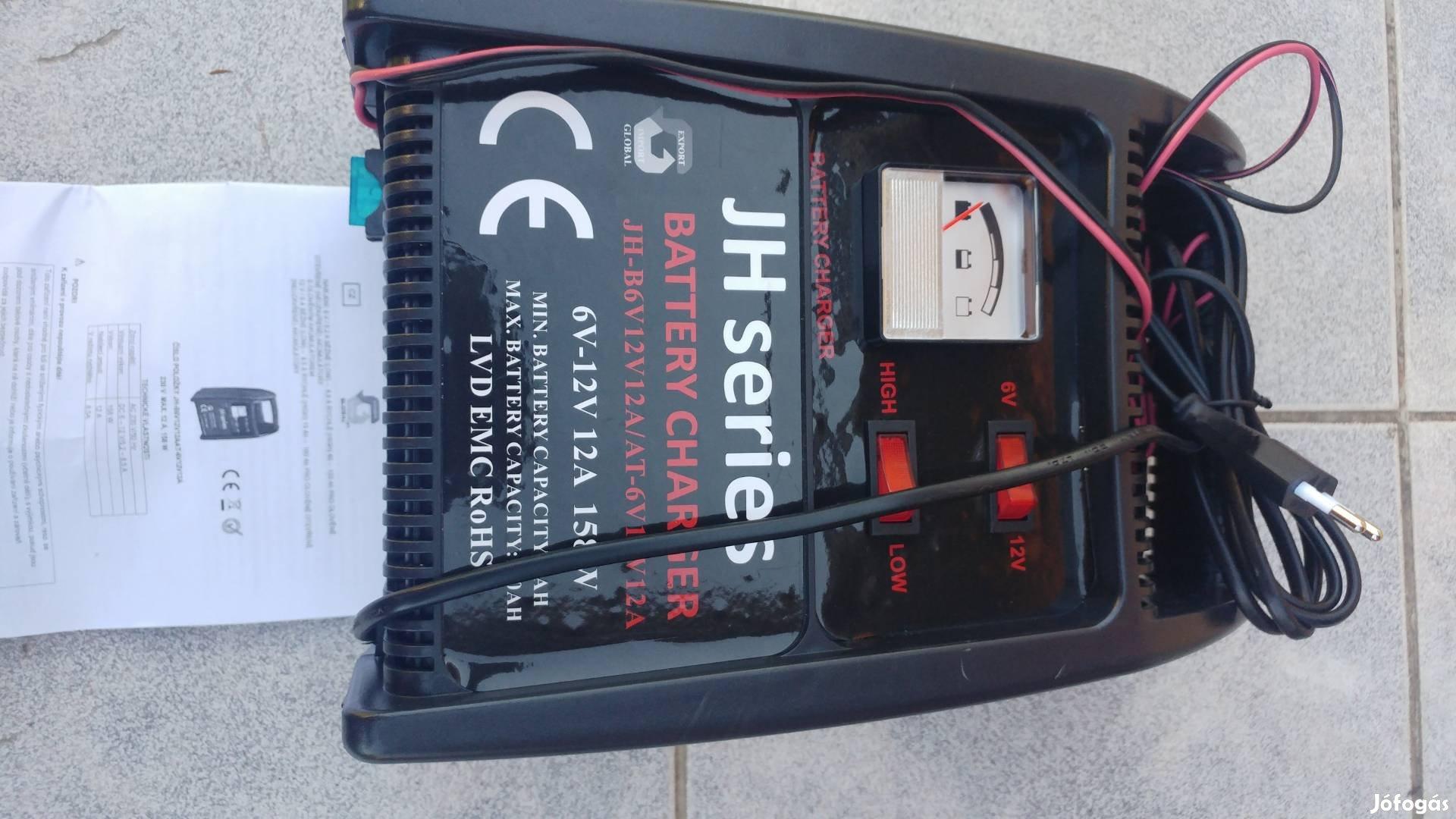 Akkumlátor töltő 6 V-12 V- 12Ah olomsavas