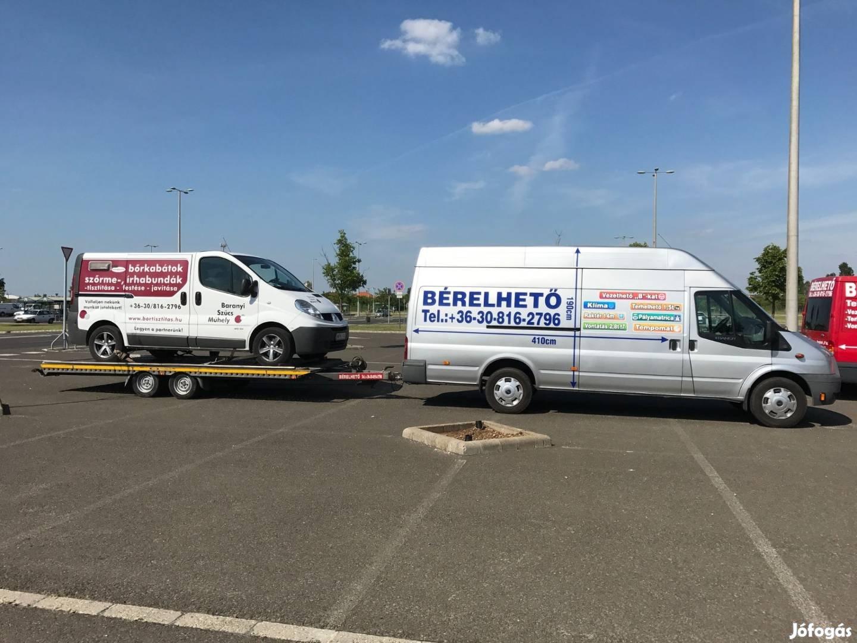 Autómentő autószállító tréler kisteherautó furgon bérlés Mátészalka