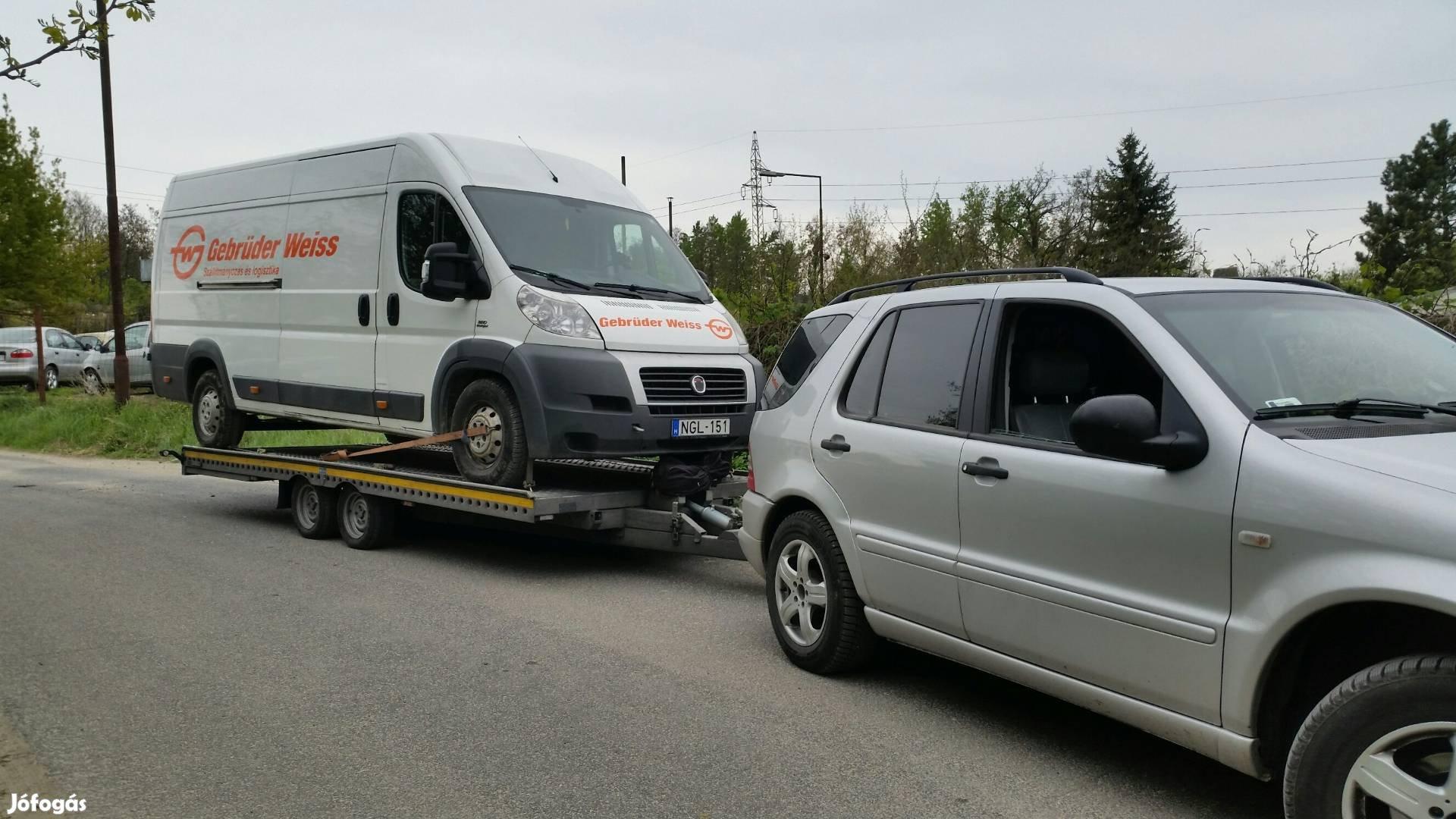 Autószállítás , trélerezés , autómentés Tatabánya Komárom Esztergom