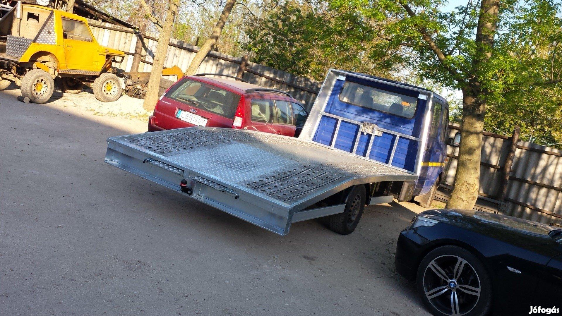 Autószállító autómentő felépitmény gyártás 200kg tól