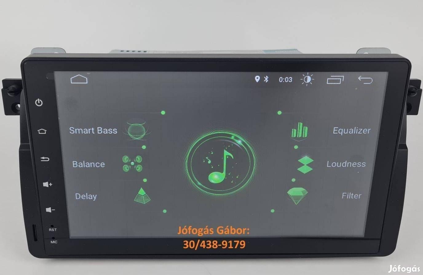 BMW E46 Android autórádió fejegység gyári helyre +Carplay
