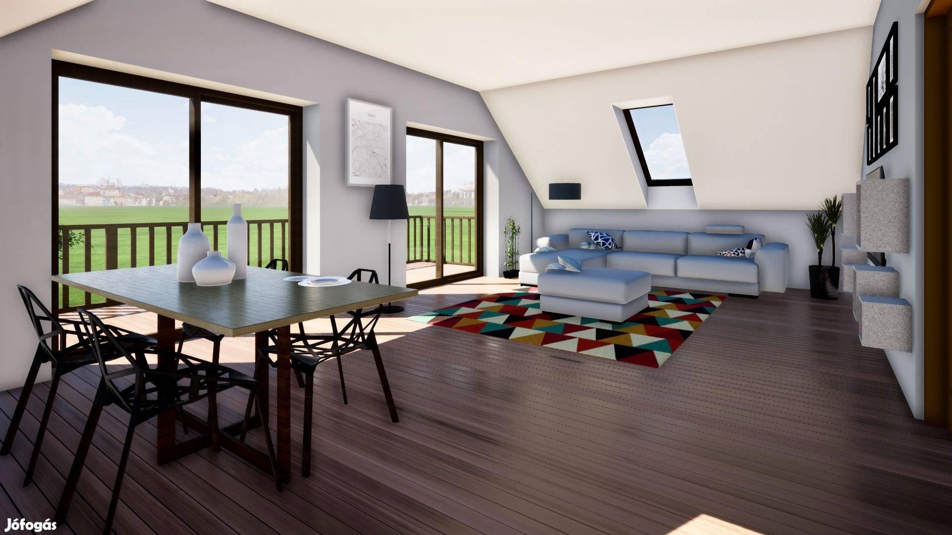 Balatonfüreden eladó új építésű kulcsrakész ikerházak