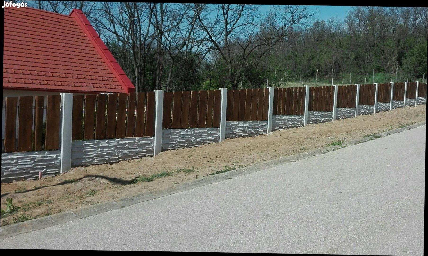 Betonkerítés , kerítés