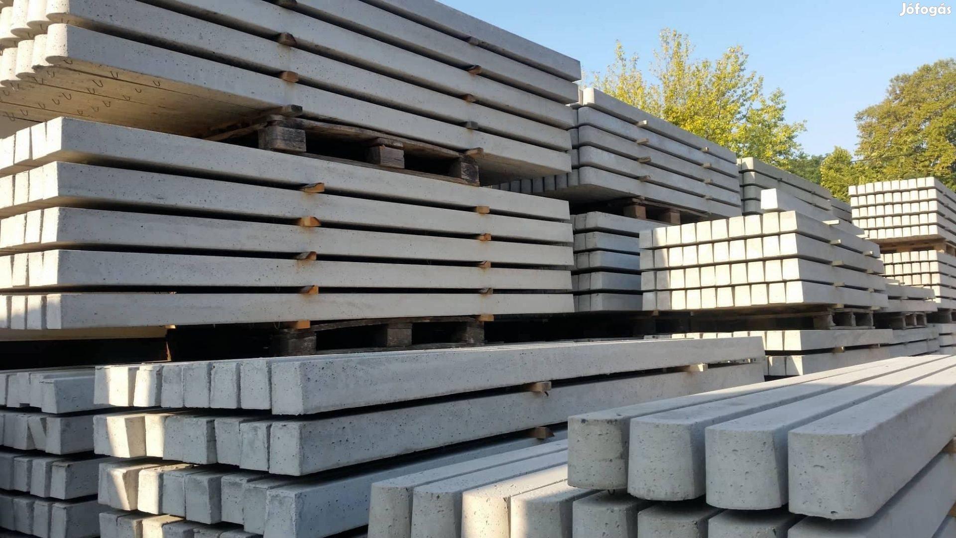 Betonoszlop, kerítés oszlop vadháló drótháló drótfonat kerítésdrót