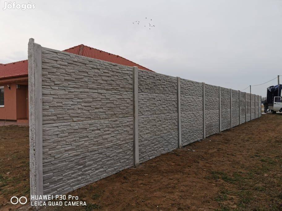 Betonpaneles kerítés
