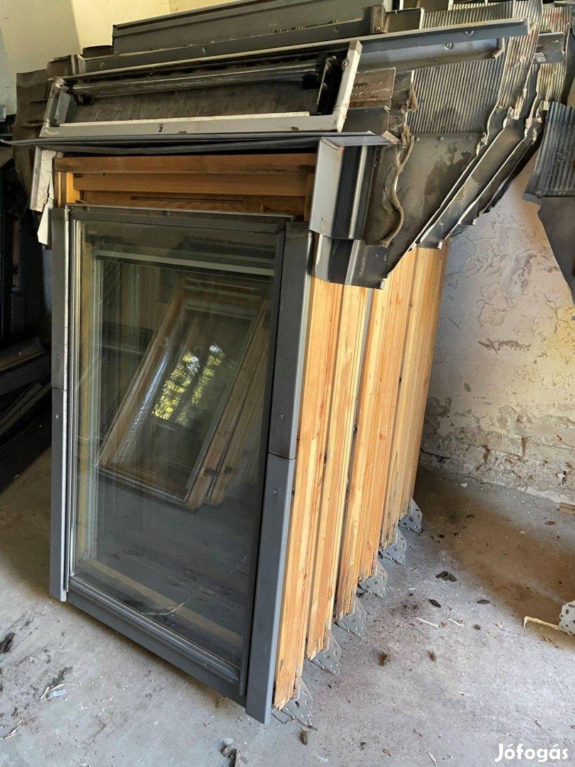 Bontott Velux tetőablak, Velux tetőablakok burkolókerettel eladó