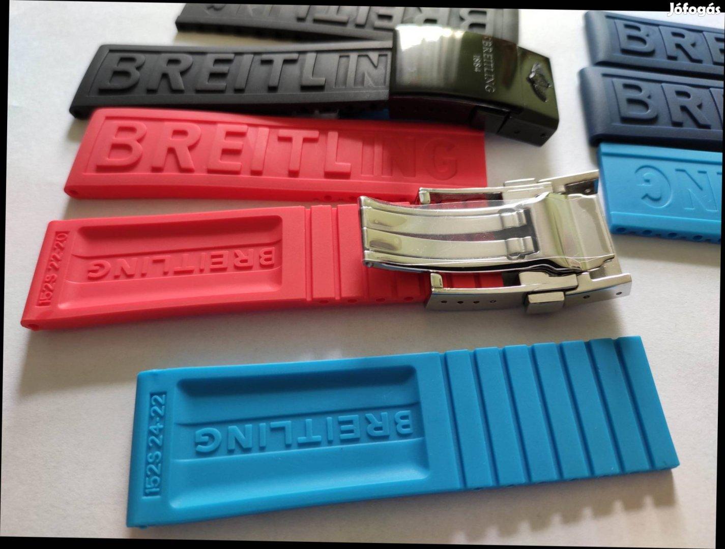 Breitling 22 24mm gumiszíj szíj óraszíj több szín