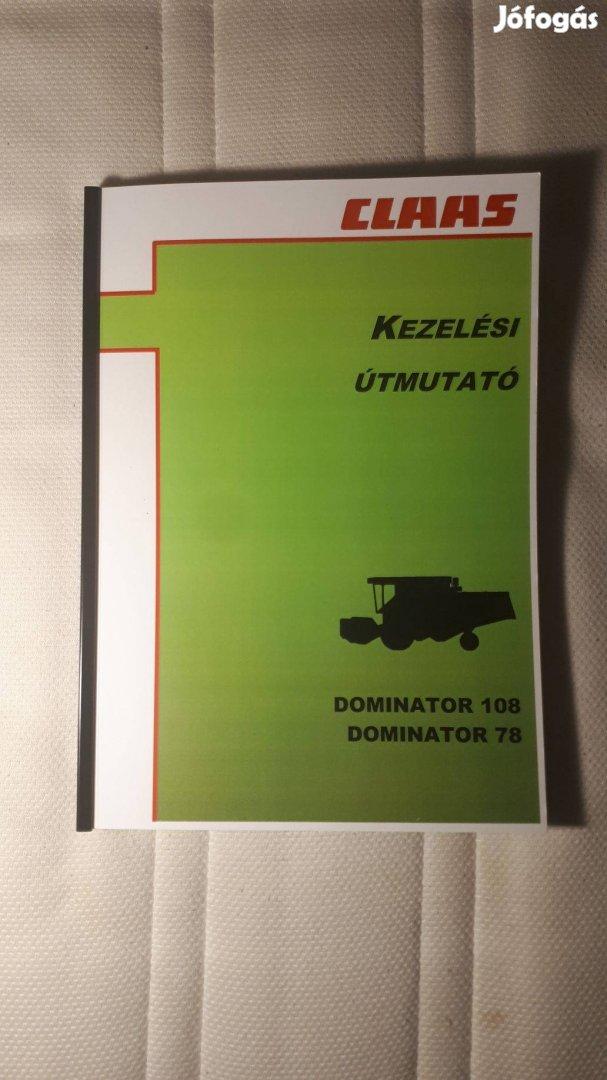 Claas Dominator 108 kezelési, javítási és alkatrészkatalógus
