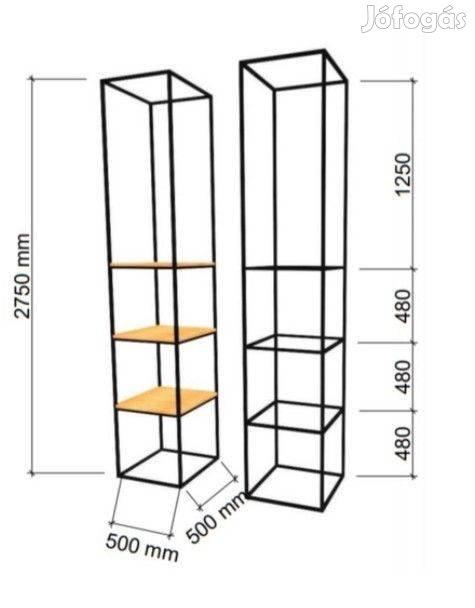 Cubus 1.0 Minimal Art acél térhasáb polcrendszer