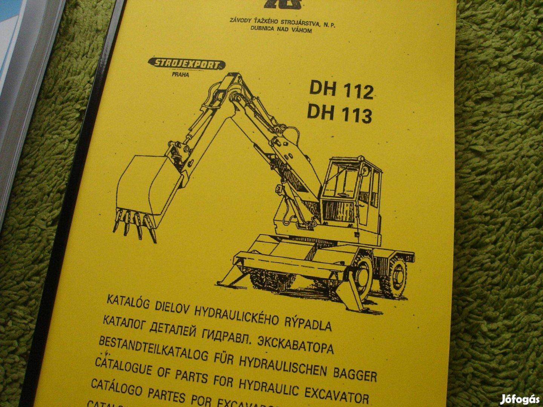 DH-112 kotró kezelési, karbantartási útmutató és alkatrészkatalógus