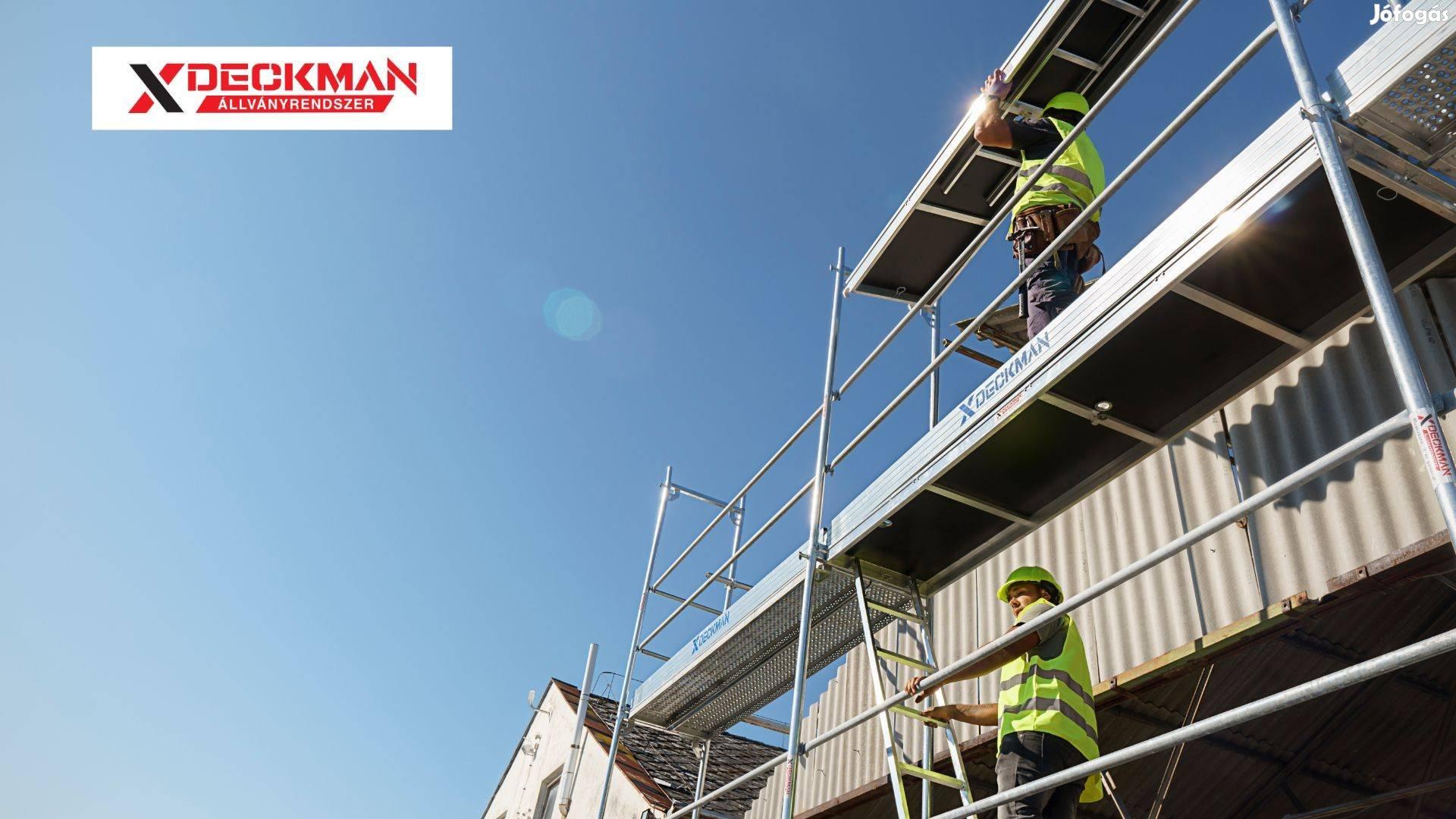 Deckman - Nagyon jó ajánlatunk van 60 m2 Új homlokzati állványra