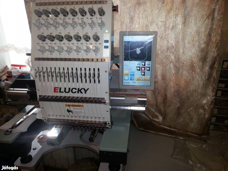 EG1501CS Elucky 15 szines 1 fejes profi gépi hímzőgép