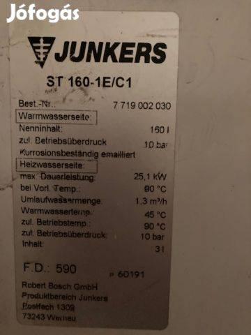 Eladó Junkers kombi turbó kazán és 160 literes vízmelegítő