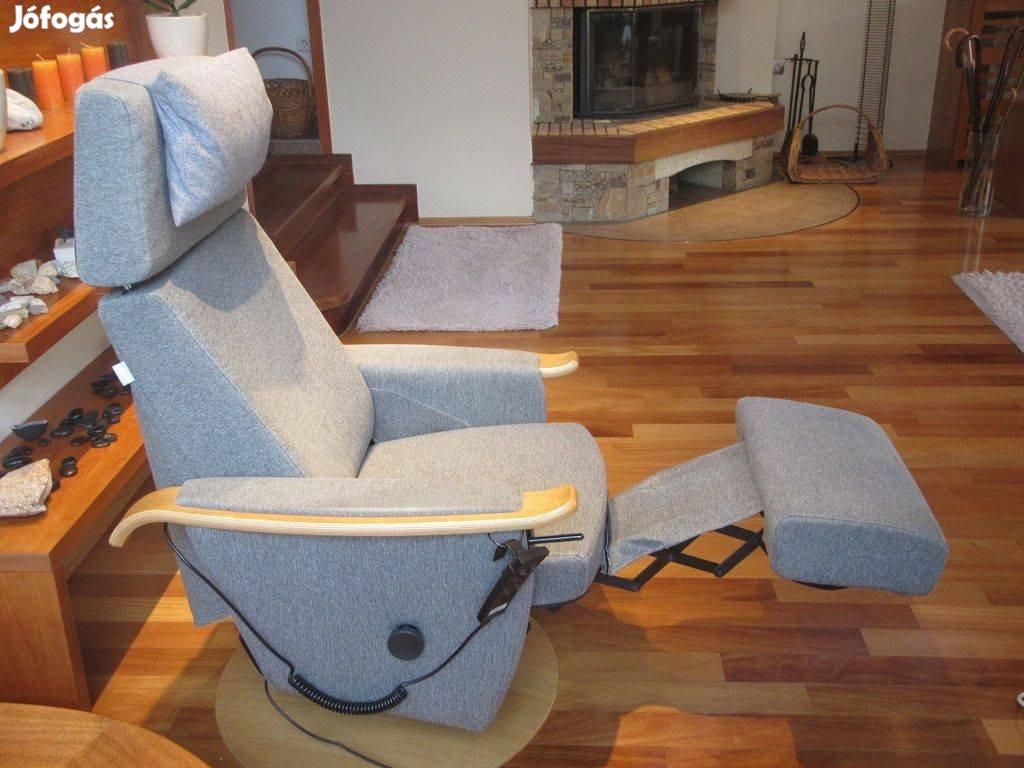 Elektromos relax felállást felállás segítő körbeforgós forgó fotel
