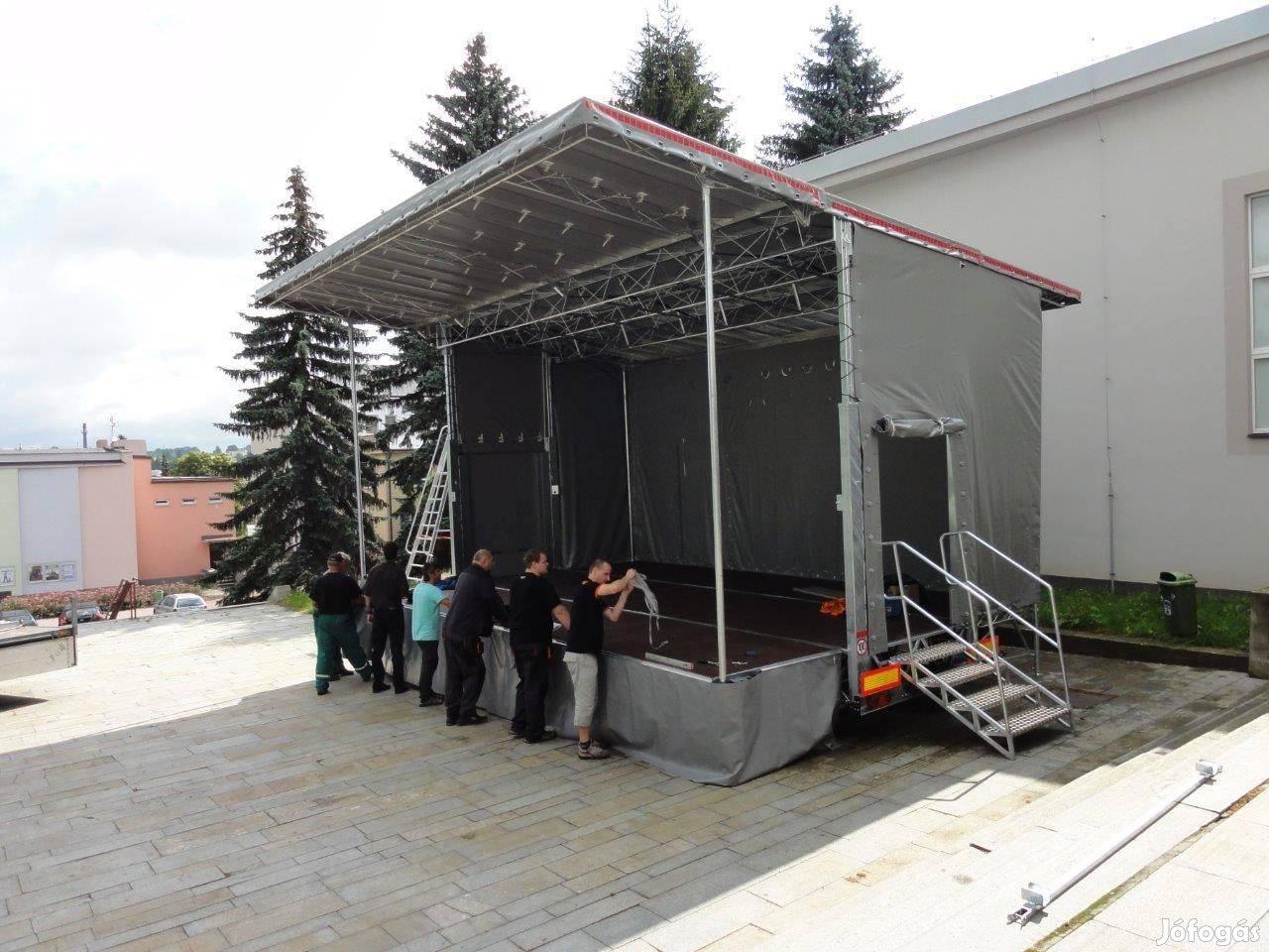 Előrendelés: Új Vezeko - 3500 kg-os színpados utánfutó eladó!