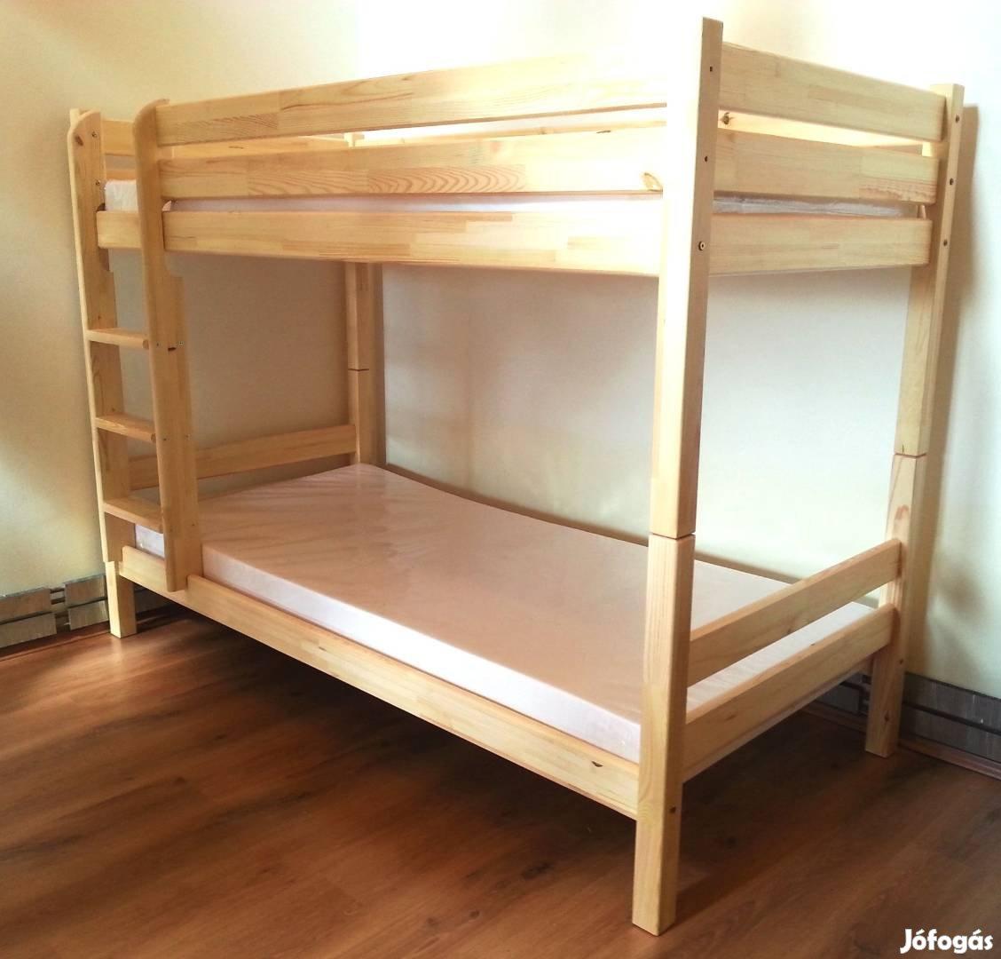 Emeletes ágy, fenyő ágy, dupla ágy, emelt ágy, emeleteságy, fenyőbútor