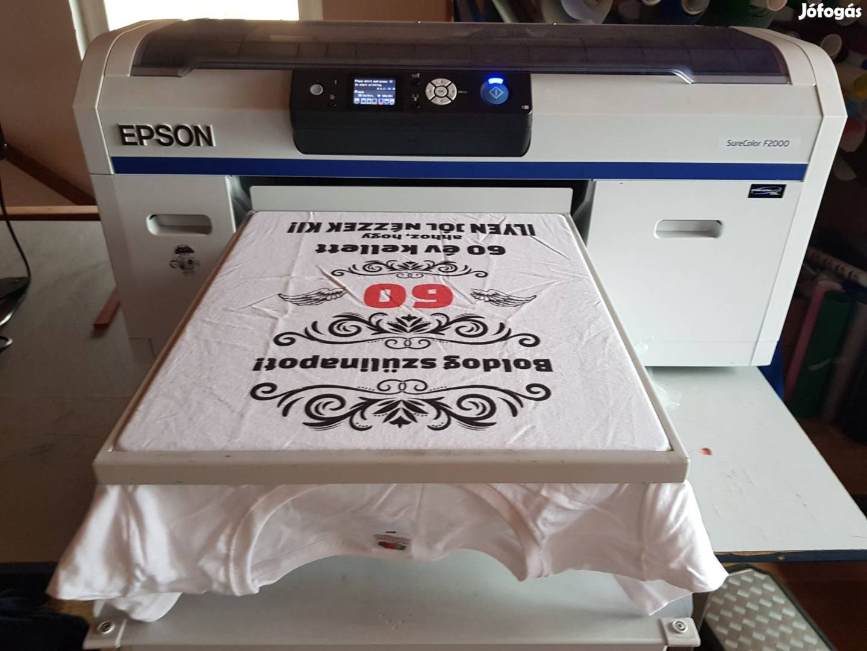 4f16d47961 Epson SC-F2000 DTG garment textilnyomtató, pólónyomtató + extrák, 2. Kép