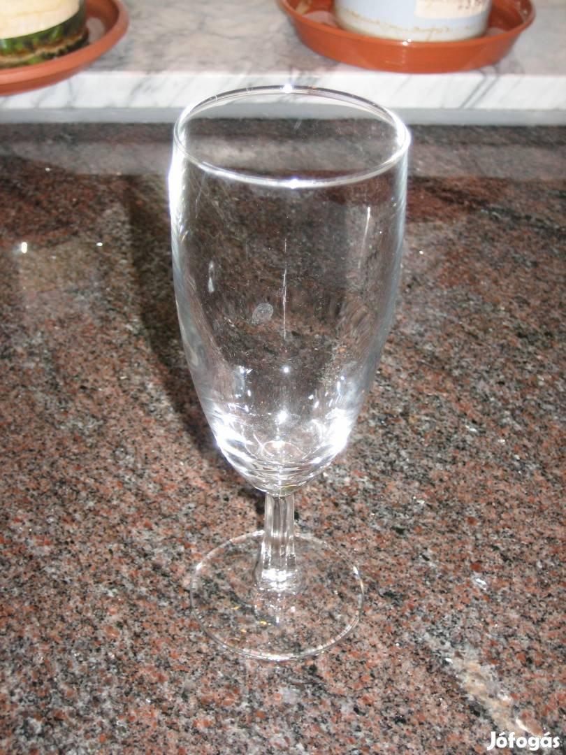 Eredeti, jelzett Arc France 10db-os pezsgőspohár készlet, pohárszett!