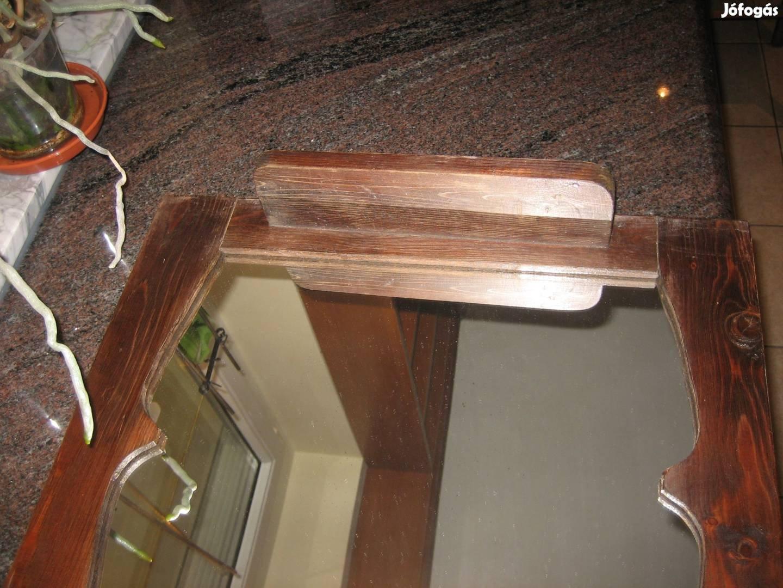 Eredeti biedermeier kivételes formájú tükör fellelt állapotban!