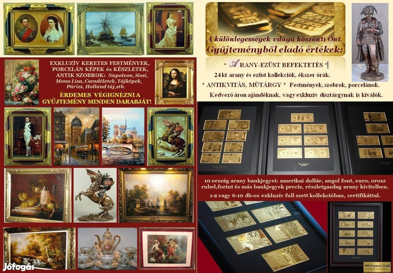 Exkluzív Magyar Forint Arany Bankjegy Full Szett, Luxus Ajándék