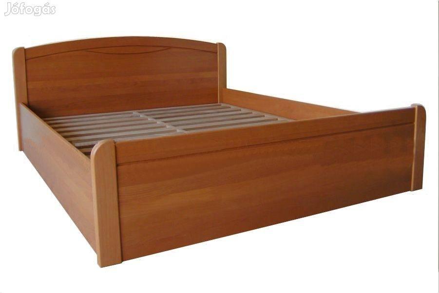 Felnyílókeretes bükkfa ágykeret, zárt ágyneműtartós,pácos,Bp.Lurdy Ház, 1. Kép