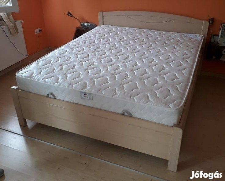 Franciaágy, keményfa ágy, ágy, bükk, olcsó, ágyneműtartós