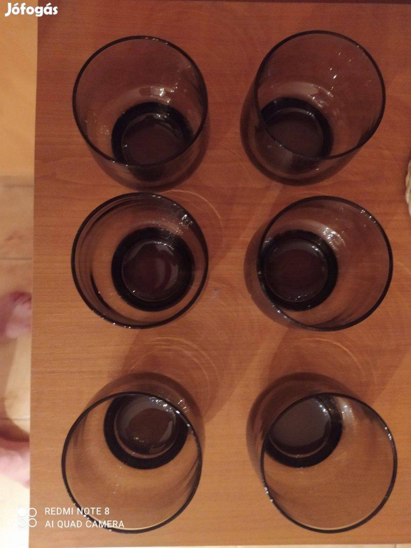 Füstszínű pohárkészlet