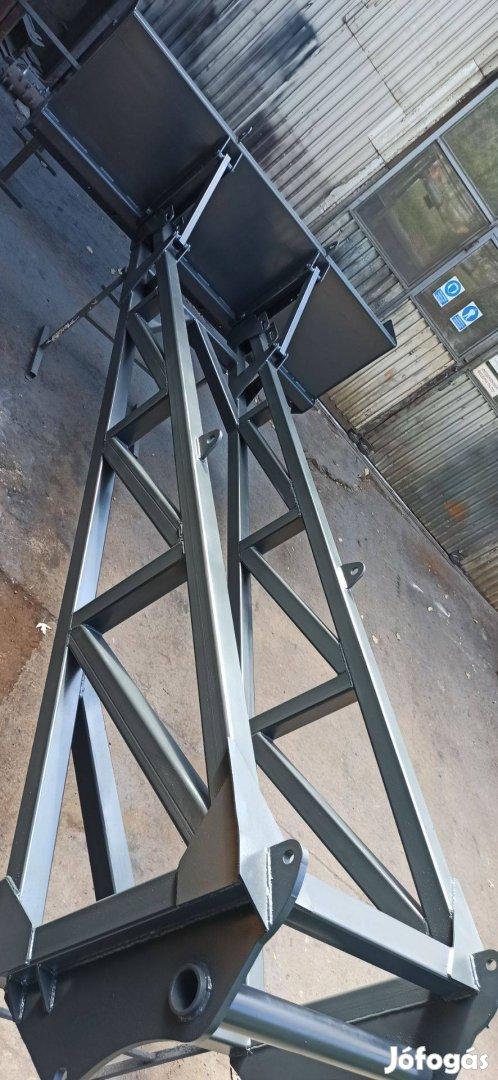 Gabonatoló 4,2 méteres Manitou 740 rakodóra