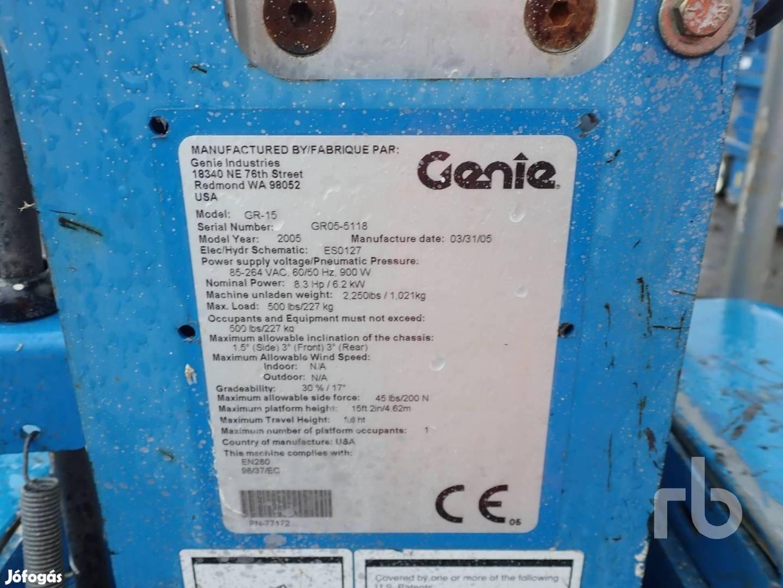 Genie GR15 szemelyi emelő