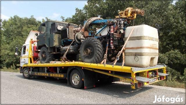 Gépszállítás, Munkagép szállítás, Autó mentés-szállítás,
