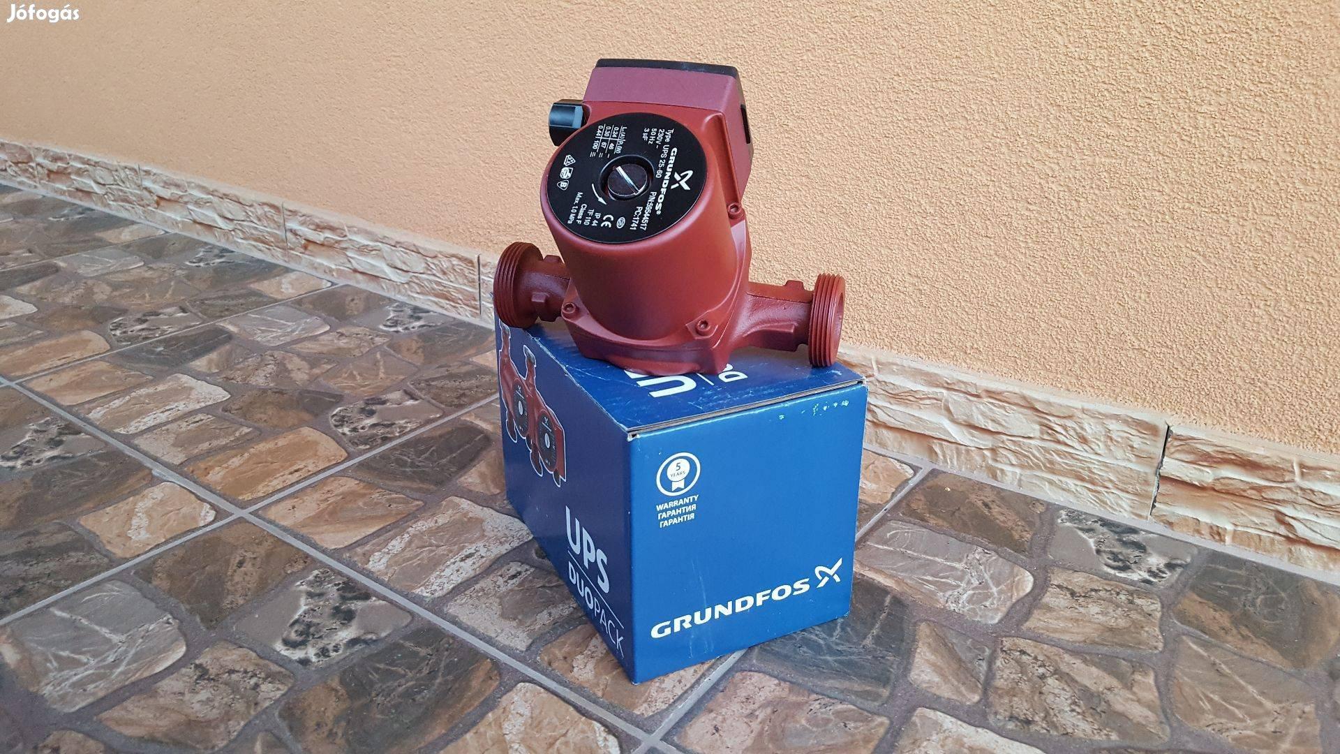 Grundfos UPS 25-60 180 Új keringető szivattyú Fűtés