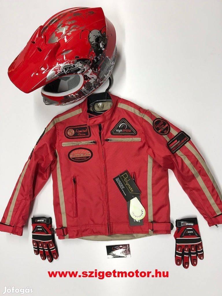 Gyermek gyerek quad cross sisak kabát kesztyű protektor!Sziget Motor!