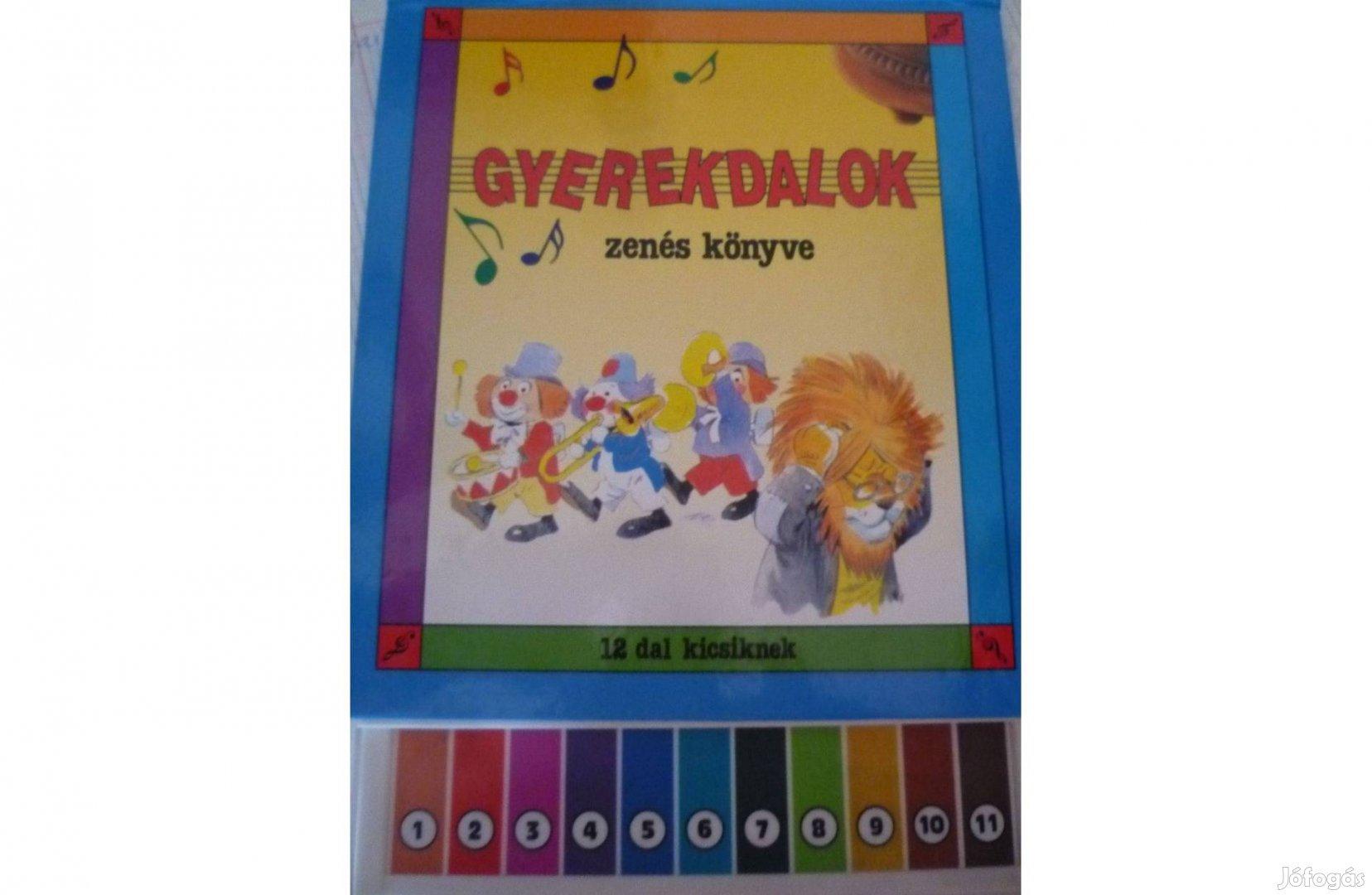Gyermekdalok zenés könyve 12 db dallal,kottával 1995