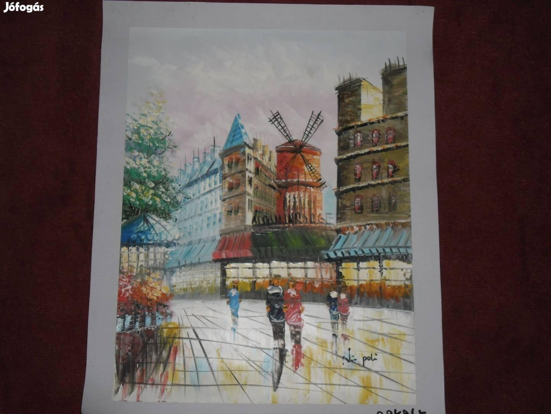 Gyönyörű Párizs utcakép festmény, olajfestmény