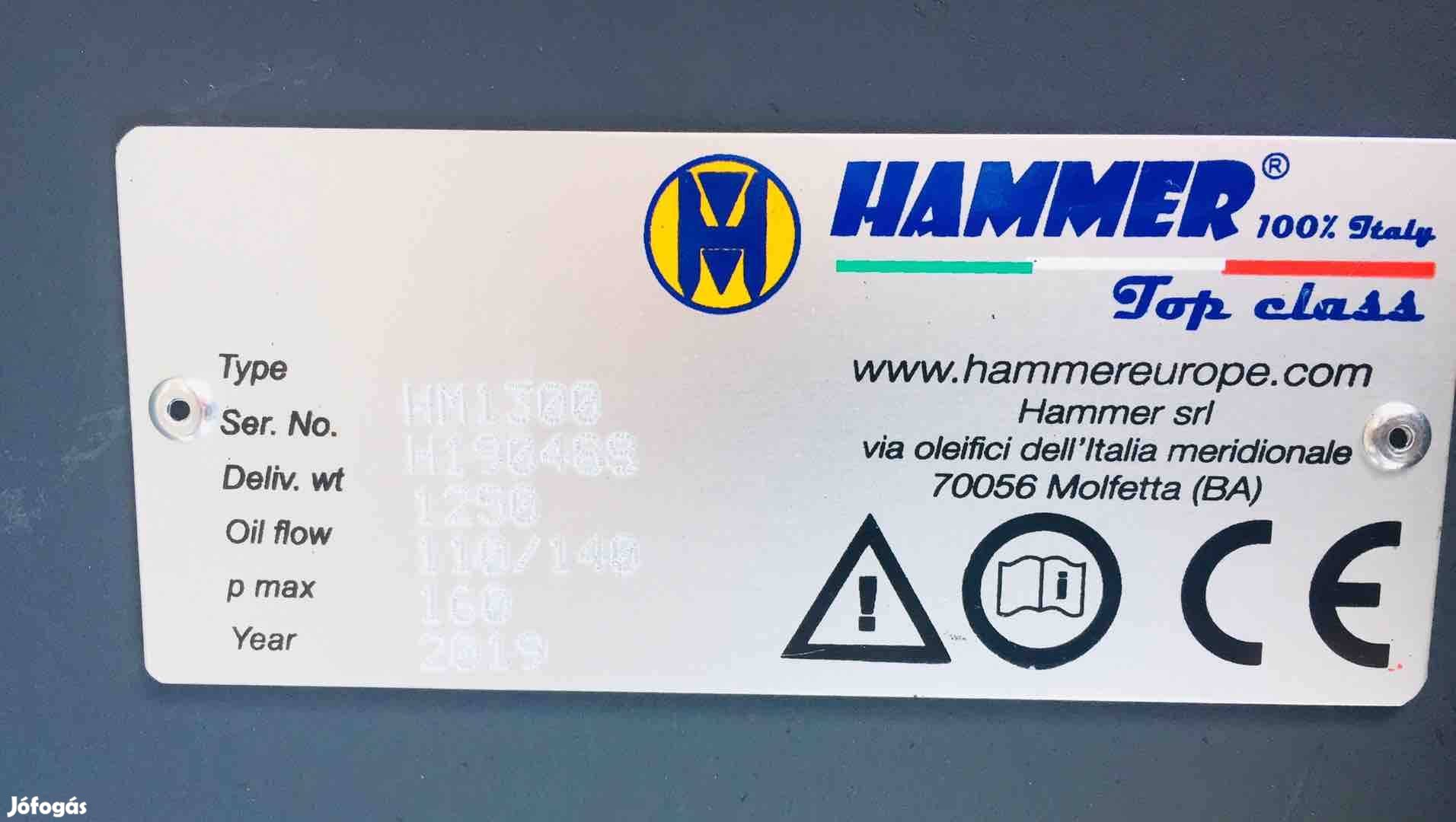 Hammer HM1300 Hidraulikus bontókalapács törőfej, 6. Kép