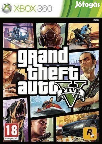 Használt Grand Theft Auto V Xbox 360 játék üzletből