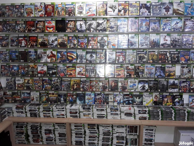 Használt és új Xbox 360 játékok 1000 Ft, egyben elvihető, üzletből