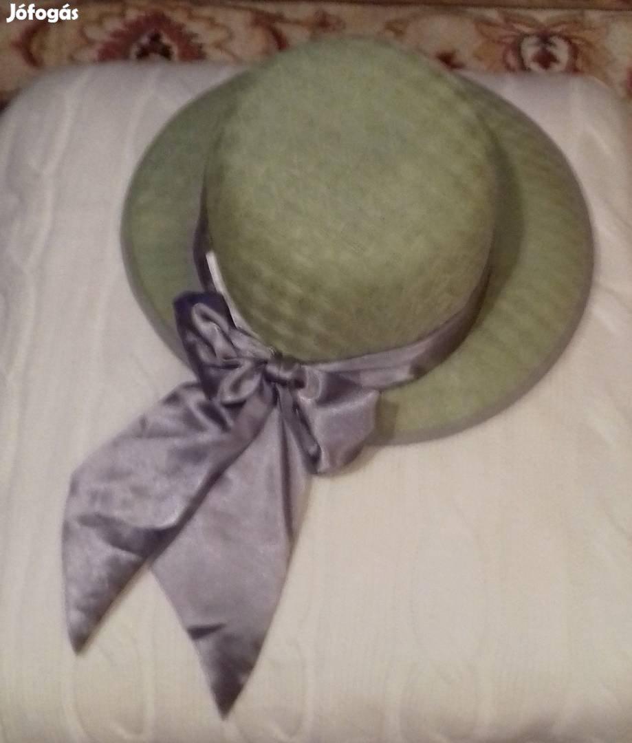 Haványzöld elegáns, mű szalmakalap Kaposváron eladó, 1. Kép