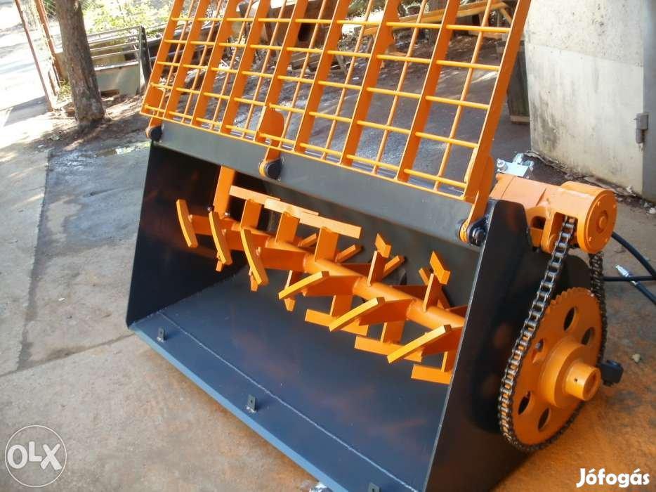 Hidraulikus lyukfúró és betonkeverő kanál eladó minden rakodógépre
