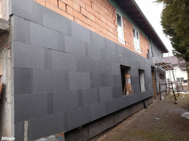 Homlokzat szigetelés, gipszkarton szerelés, festés, kőmüves munka