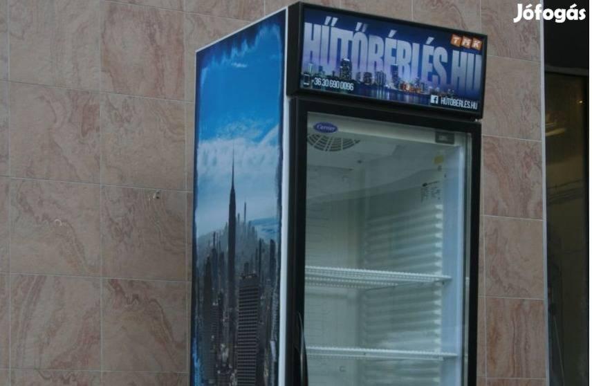 Hűtő, italhűtő, üvegajtós, vitrines hűtő