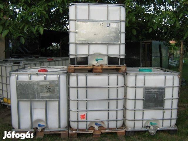IBC 1000l műanyag víztartály