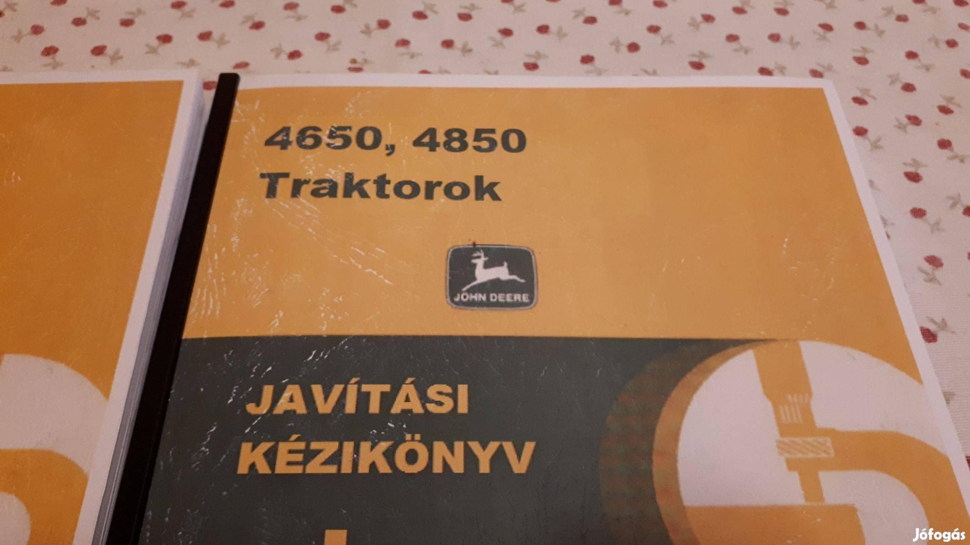 John Deere 4650, 4850 javítási kézikönyv