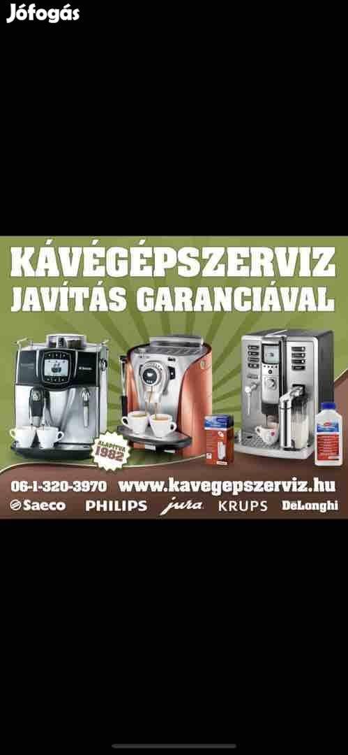 Jura Saeco Krups Delonghi szerviz garanciával!
